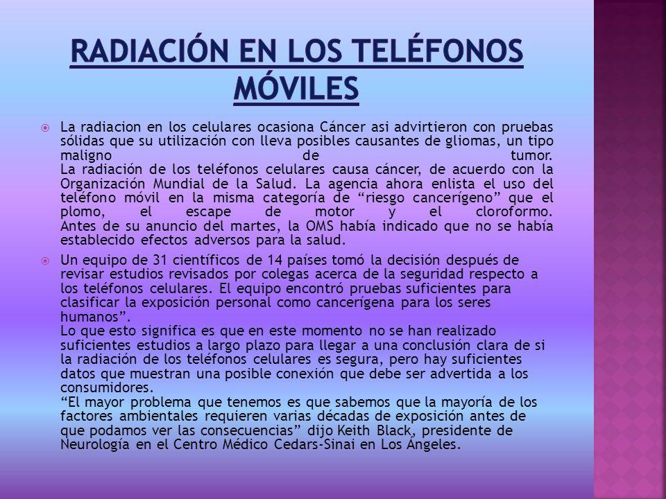Radiación en los teléfonos móviles