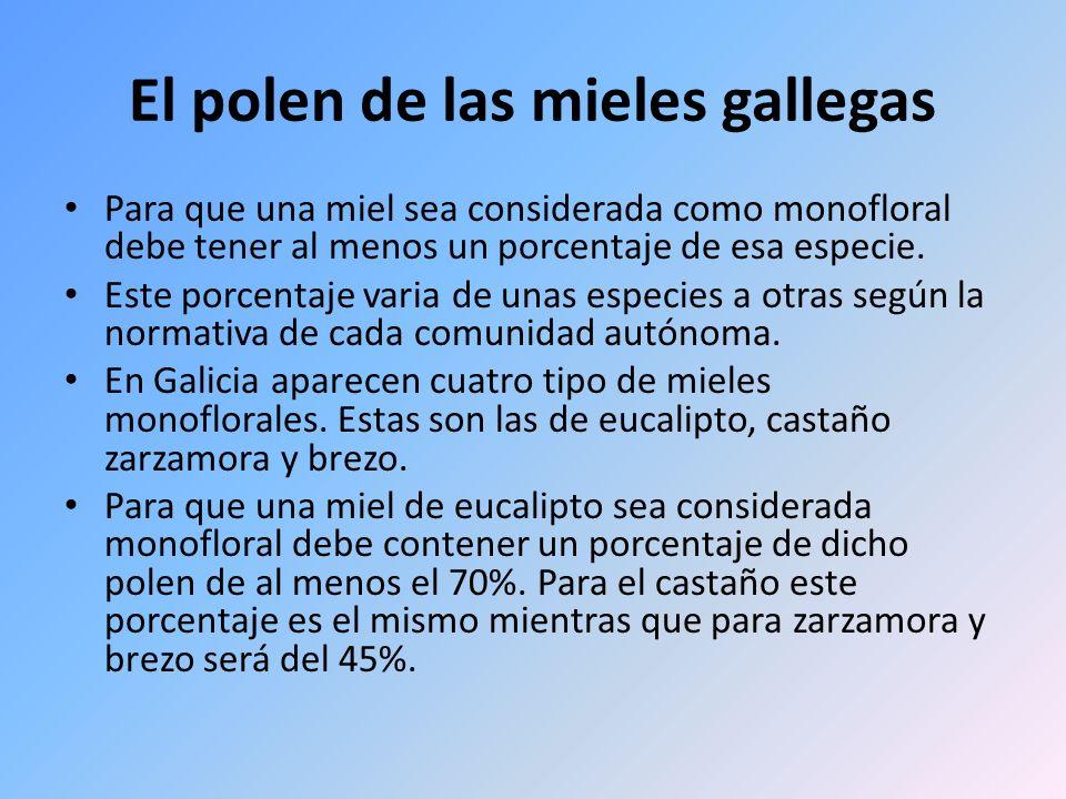 El polen de las mieles gallegas