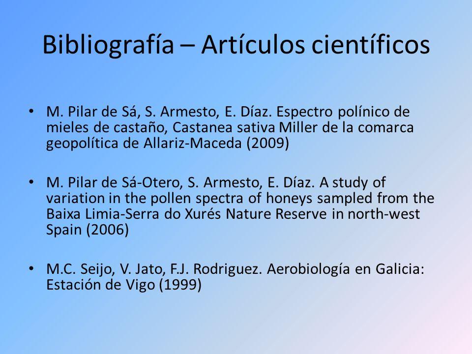 Bibliografía – Artículos científicos