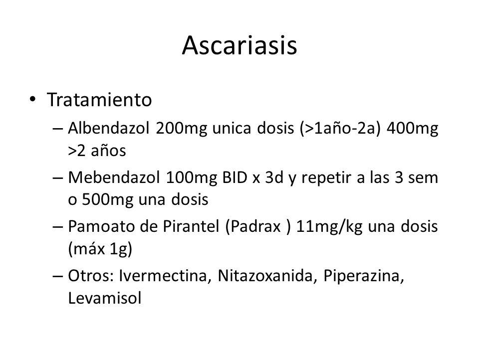 Ascariasis Tratamiento
