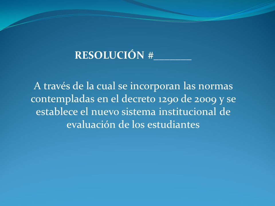 RESOLUCIÓN #_______
