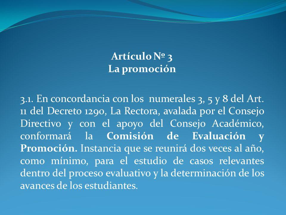 Artículo Nº 3 La promoción