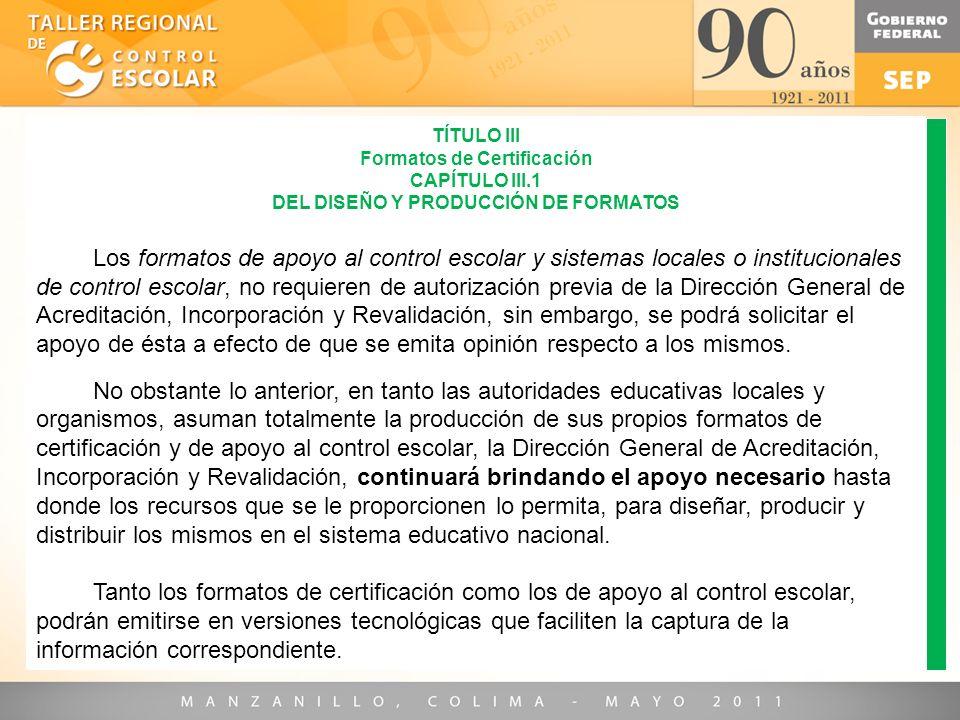 Formatos de Certificación DEL DISEÑO Y PRODUCCIÓN DE FORMATOS