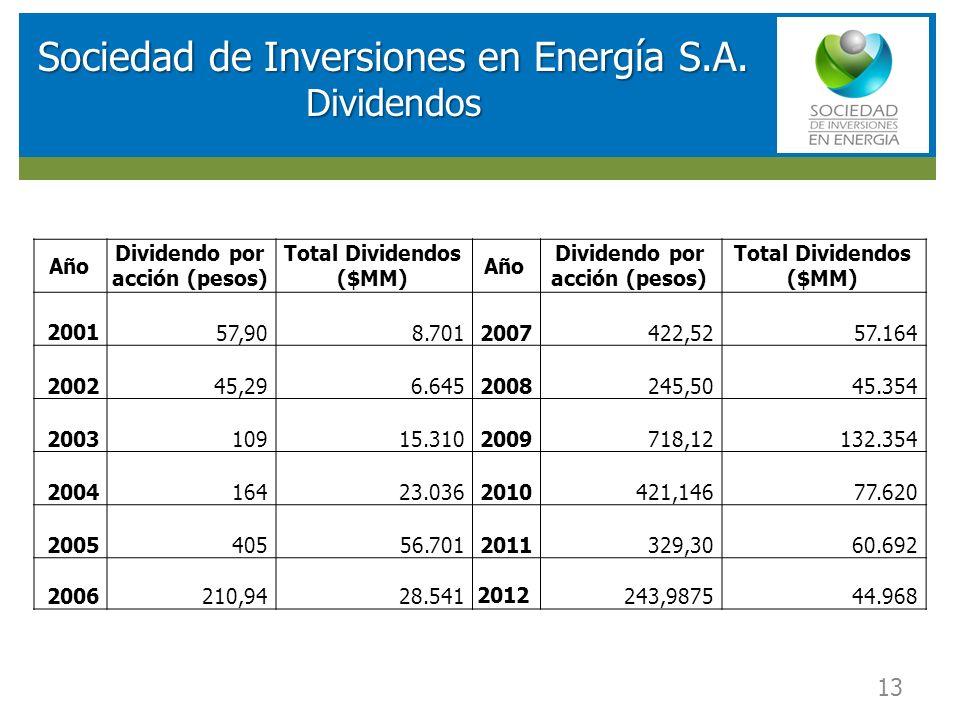 Sociedad de Inversiones en Energía S.A. Dividendos