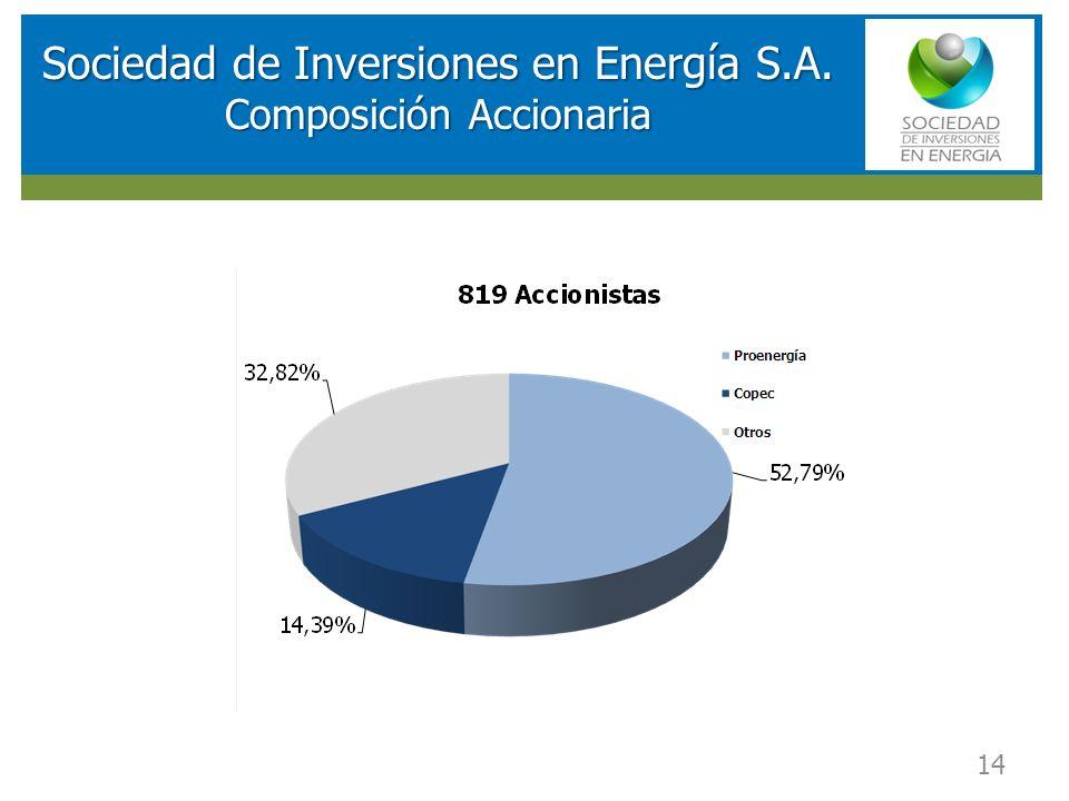 Sociedad de Inversiones en Energía S.A. Composición Accionaria