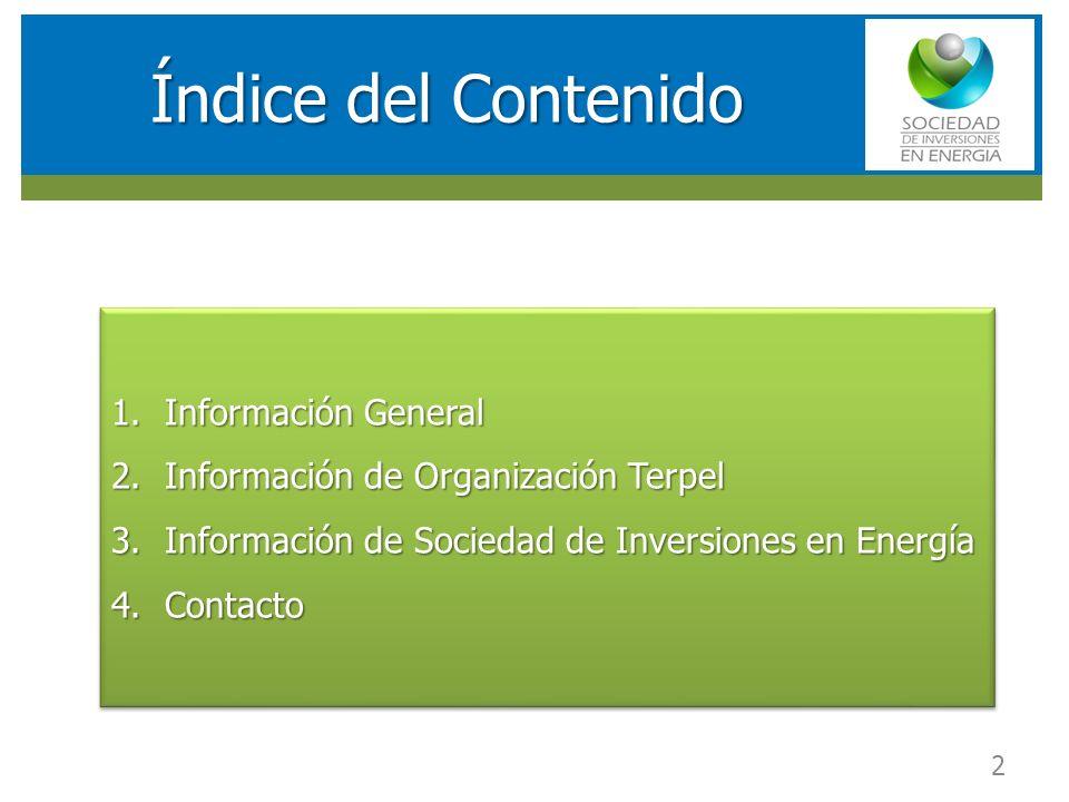 Índice del Contenido Información General