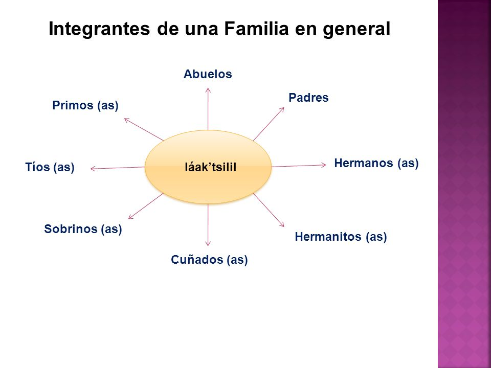 Integrantes de una Familia en general