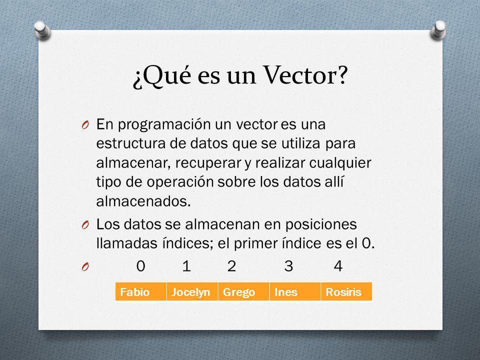 ¿Qué es un Vector