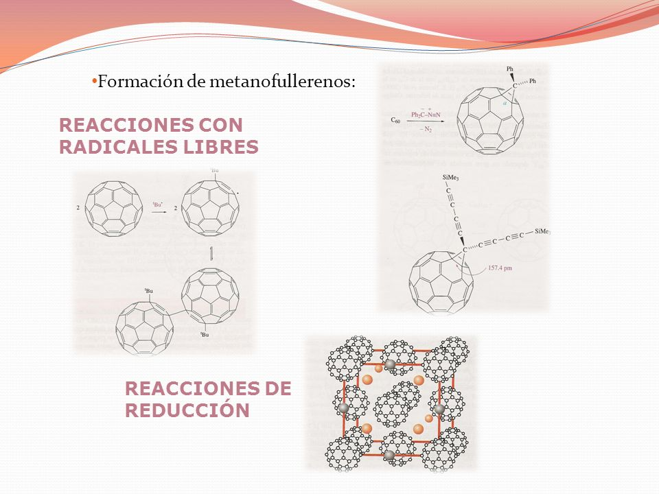 Formación de metanofullerenos: