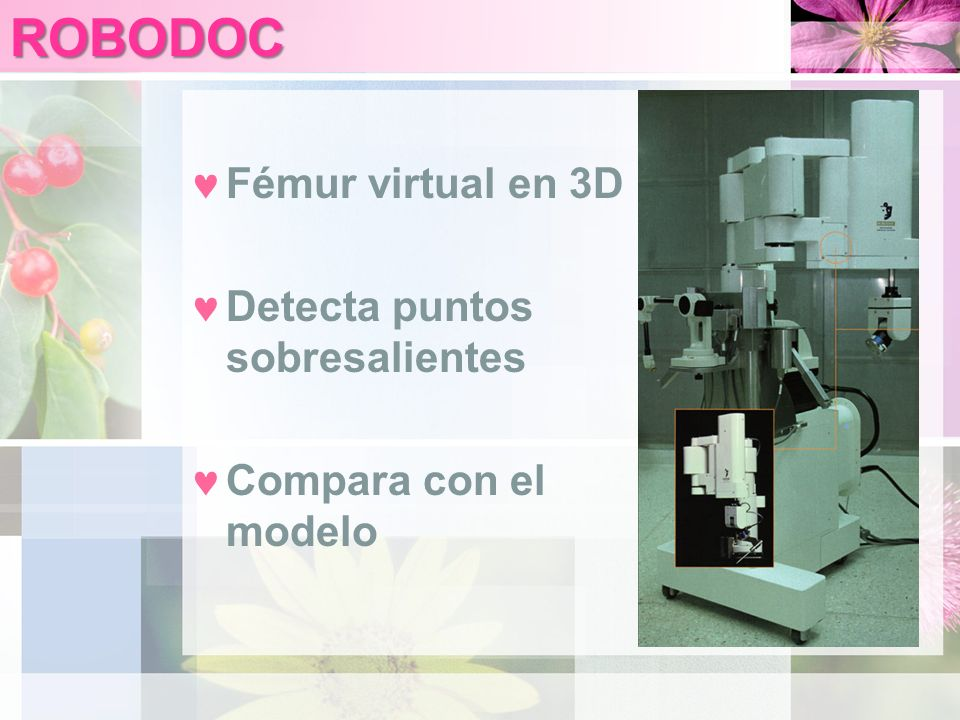 ROBODOC Fémur virtual en 3D Detecta puntos sobresalientes