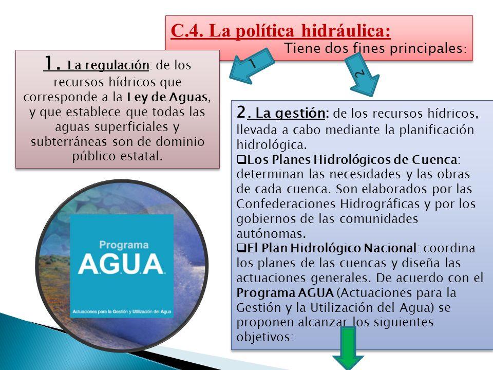 C.4. La política hidráulica: