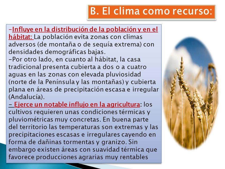 B. El clima como recurso: