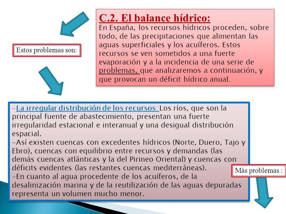 C.2. El balance hídrico: