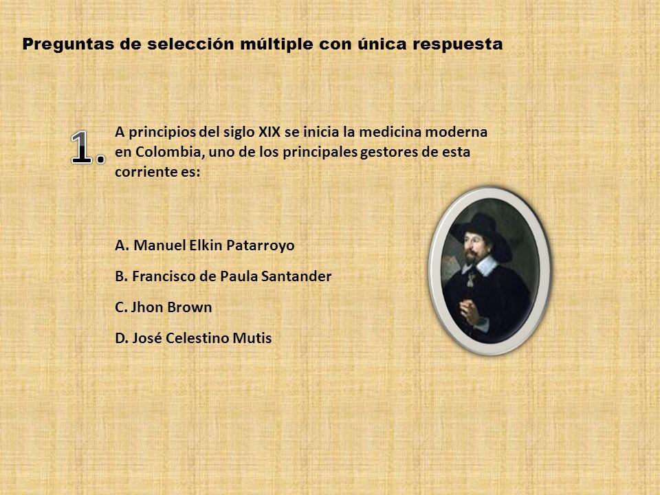1. Preguntas de selección múltiple con única respuesta