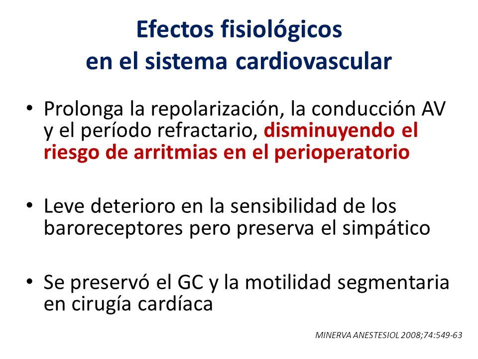 Efectos fisiológicos en el sistema cardiovascular
