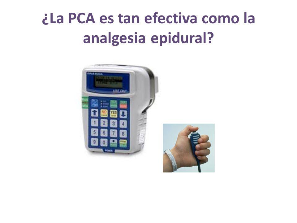 ¿La PCA es tan efectiva como la analgesia epidural