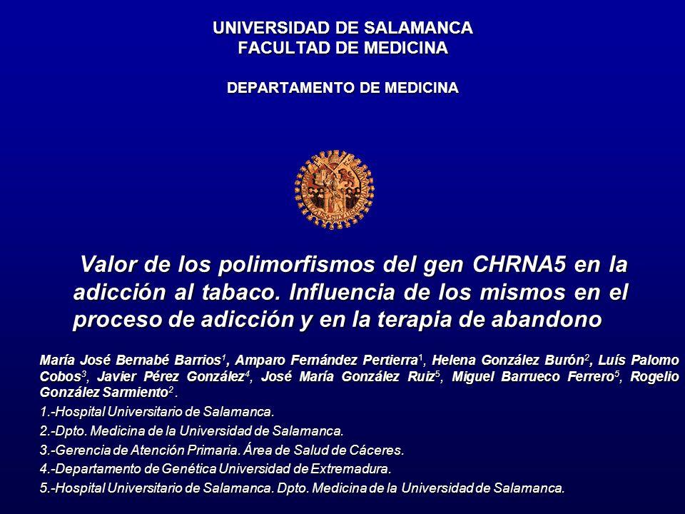 UNIVERSIDAD DE SALAMANCA FACULTAD DE MEDICINA DEPARTAMENTO DE MEDICINA