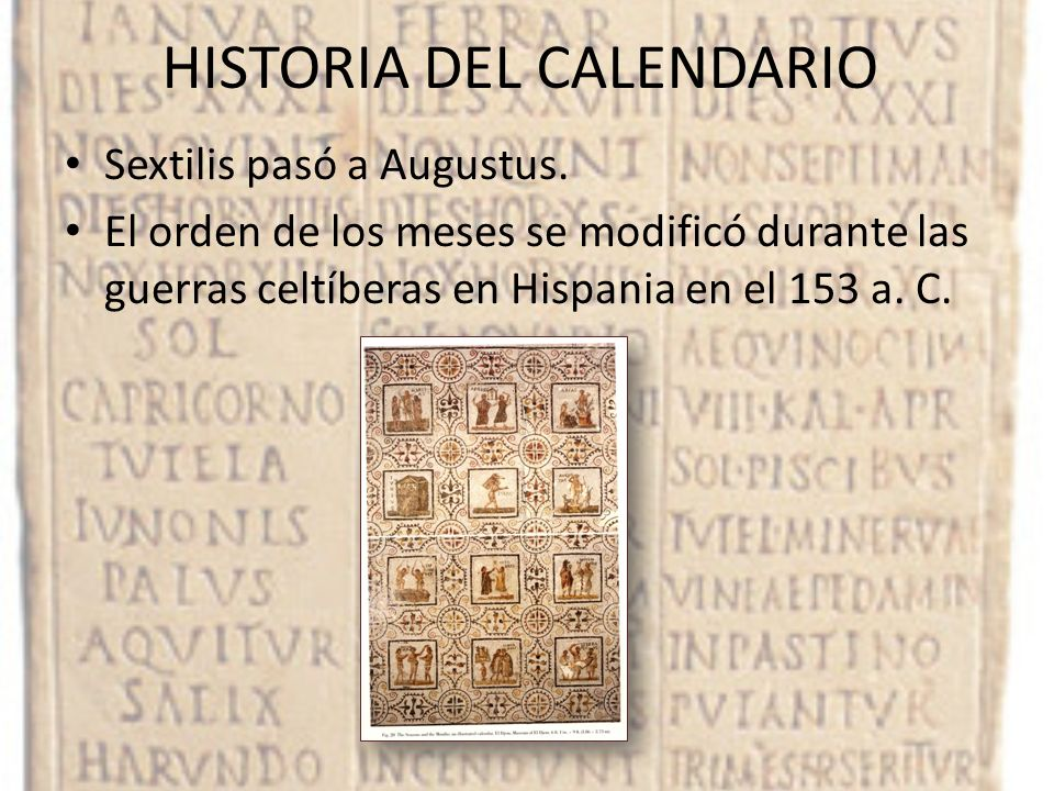 HISTORIA DEL CALENDARIO