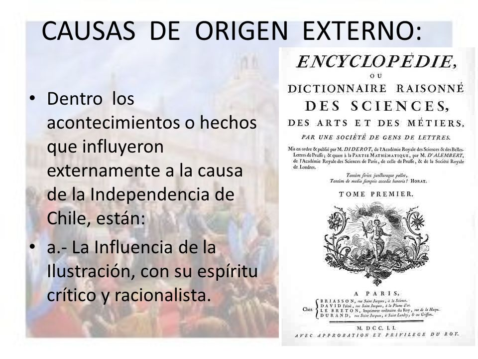CAUSAS DE ORIGEN EXTERNO: