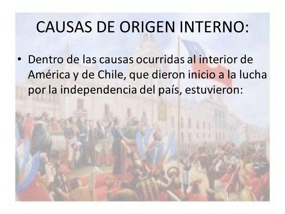 CAUSAS DE ORIGEN INTERNO: