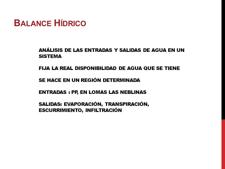 BALANCE HÍDRICO