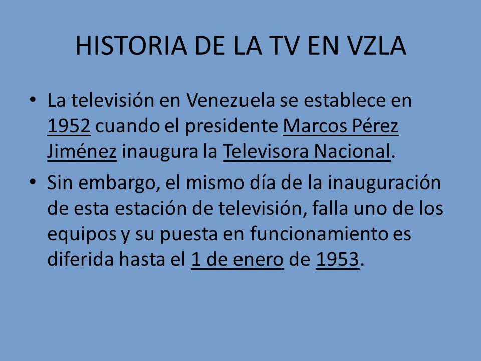 HISTORIA DE LA TV EN VZLA
