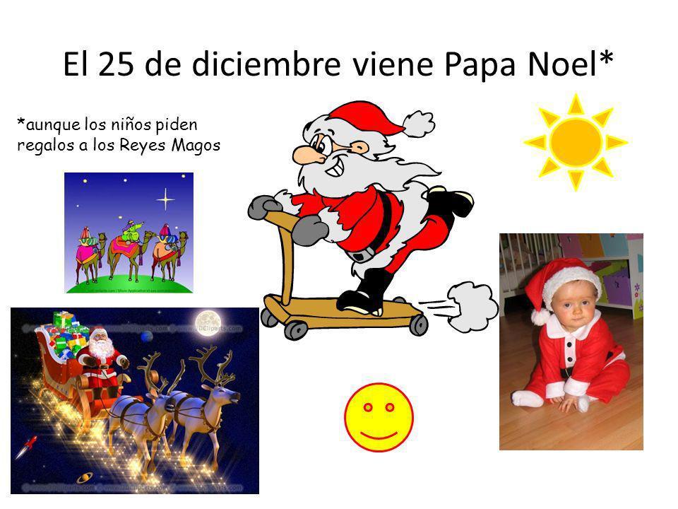 El 25 de diciembre viene Papa Noel*