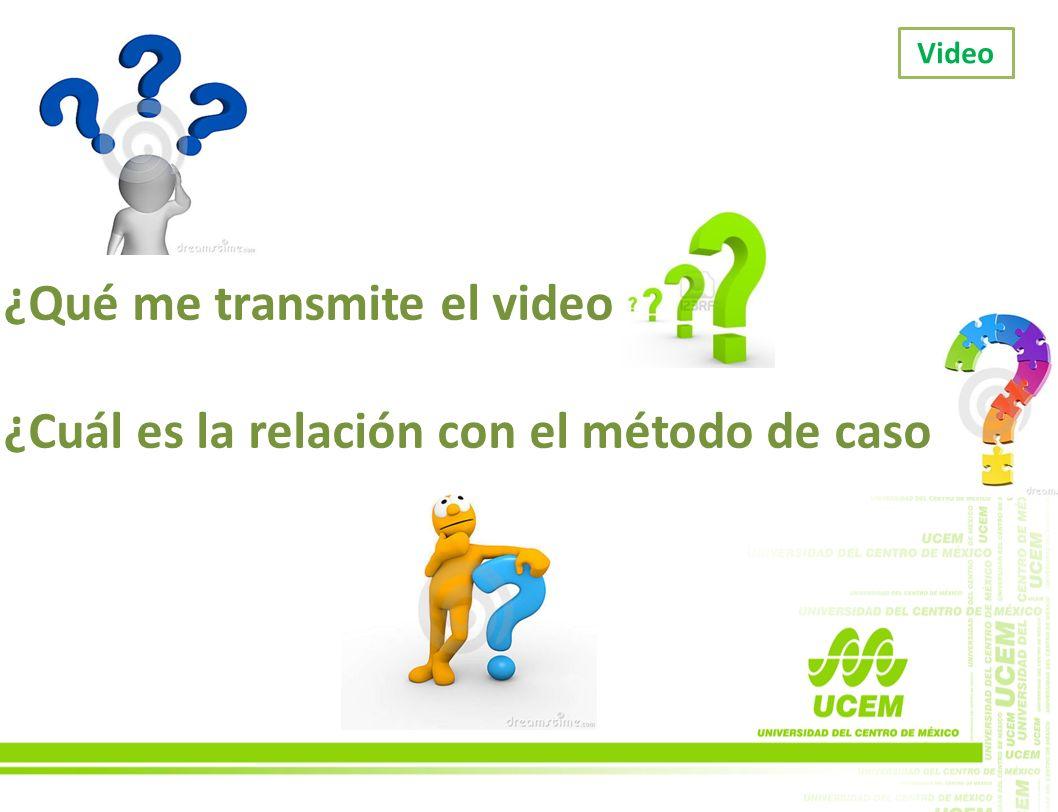 ¿Qué me transmite el video ¿Cuál es la relación con el método de caso
