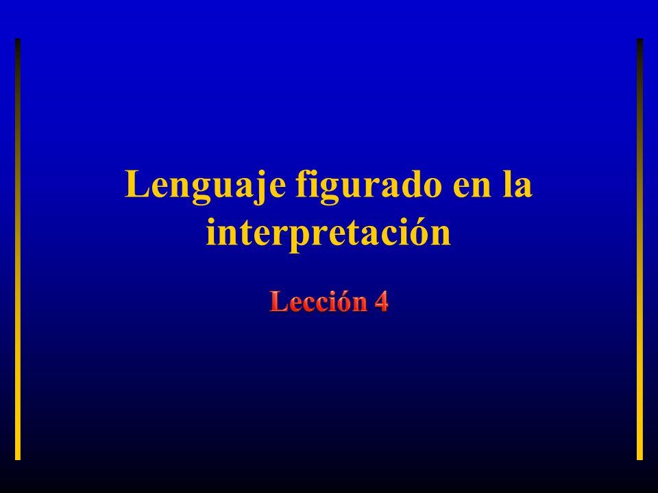 Lenguaje figurado en la interpretación