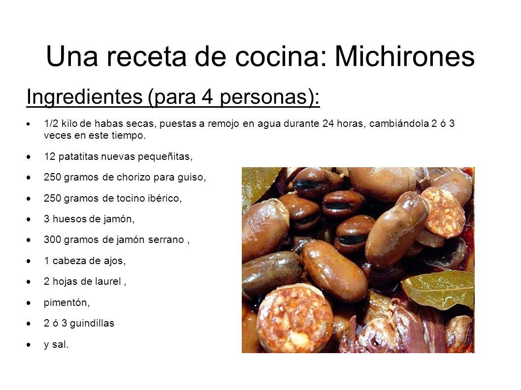 Una receta de cocina: Michirones