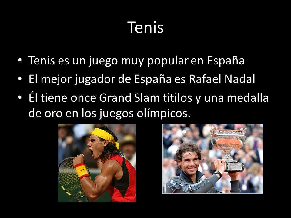 Tenis Tenis es un juego muy popular en España