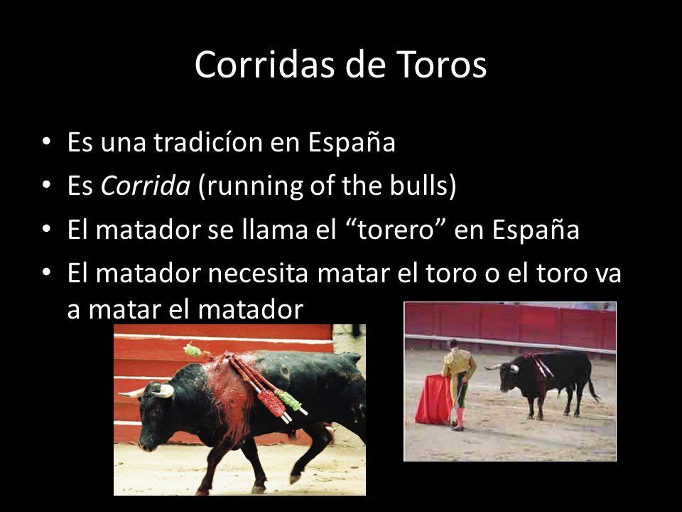 Corridas de Toros Es una tradicíon en España