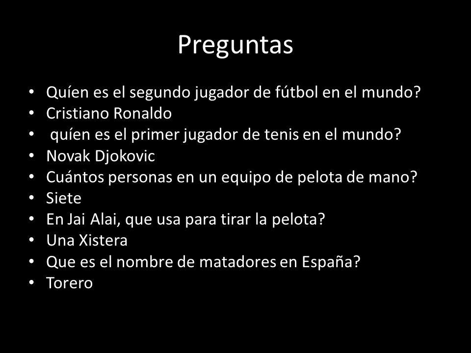 Preguntas Quíen es el segundo jugador de fútbol en el mundo