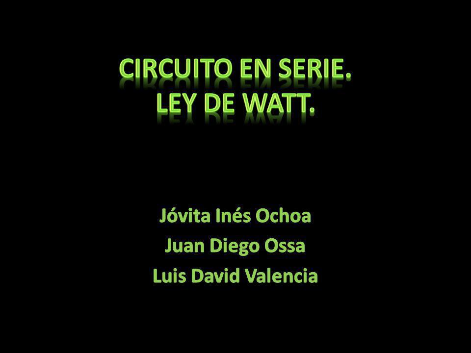 Circuito en Serie. Ley de watt.
