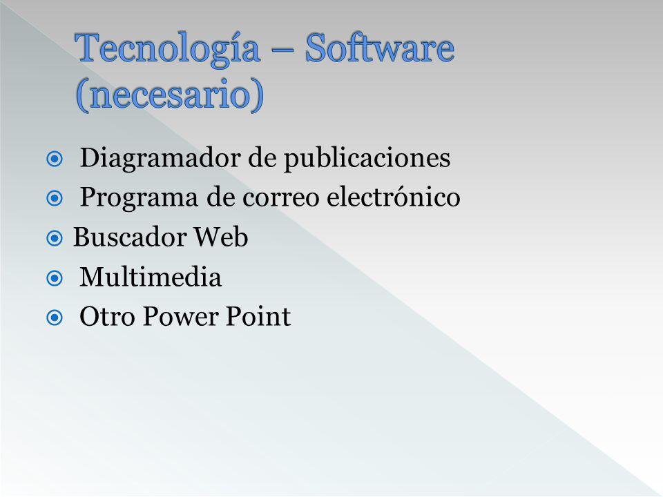Tecnología – Software (necesario)