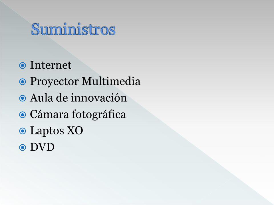 Suministros Internet Proyector Multimedia Aula de innovación
