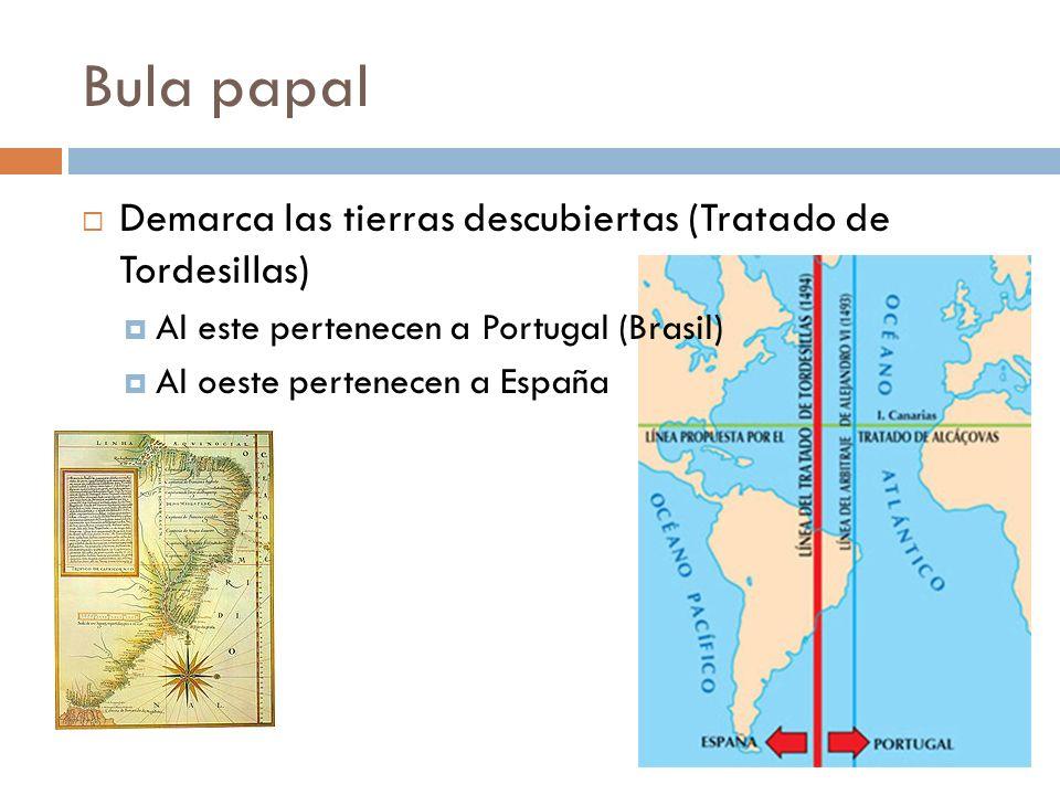 Bula papal Demarca las tierras descubiertas (Tratado de Tordesillas)