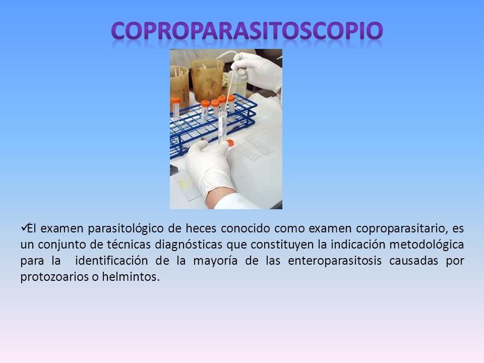 COPROPARASITOSCOPIO