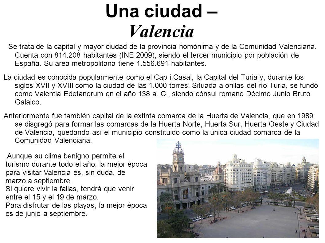 Una ciudad – Valencia