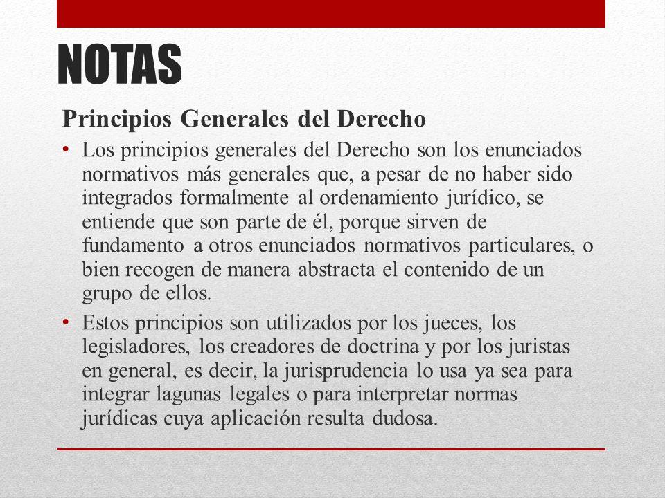 NOTAS Principios Generales del Derecho
