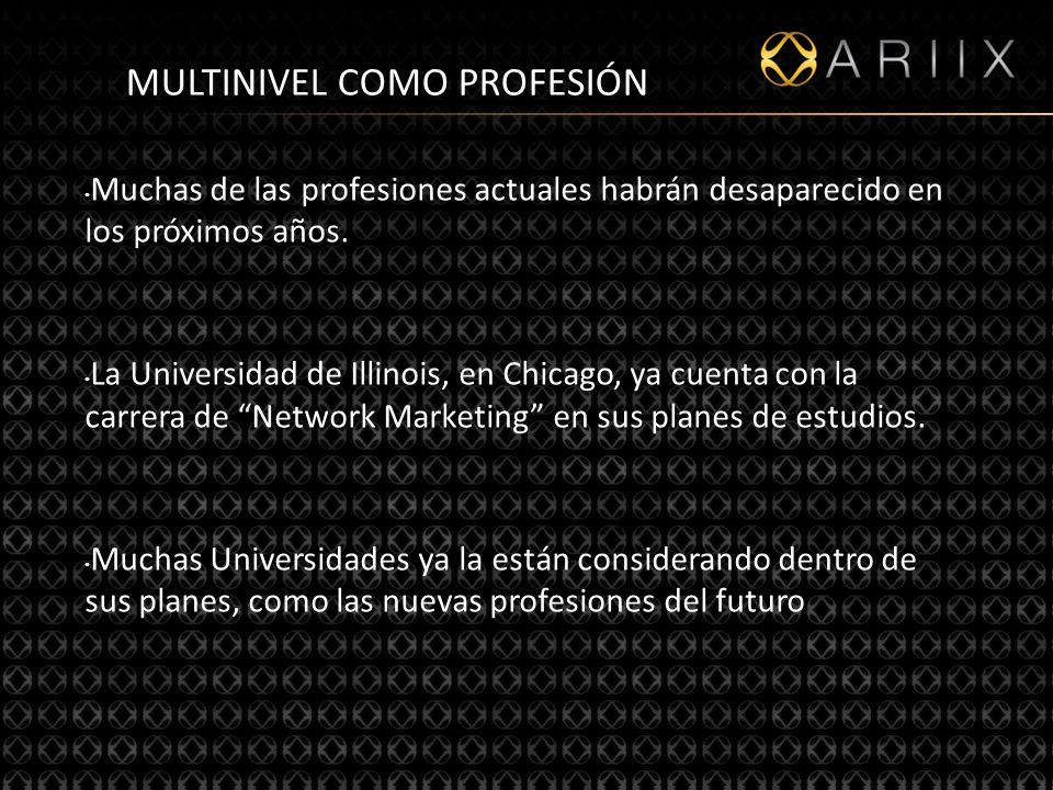 MULTINIVEL COMO PROFESIÓN