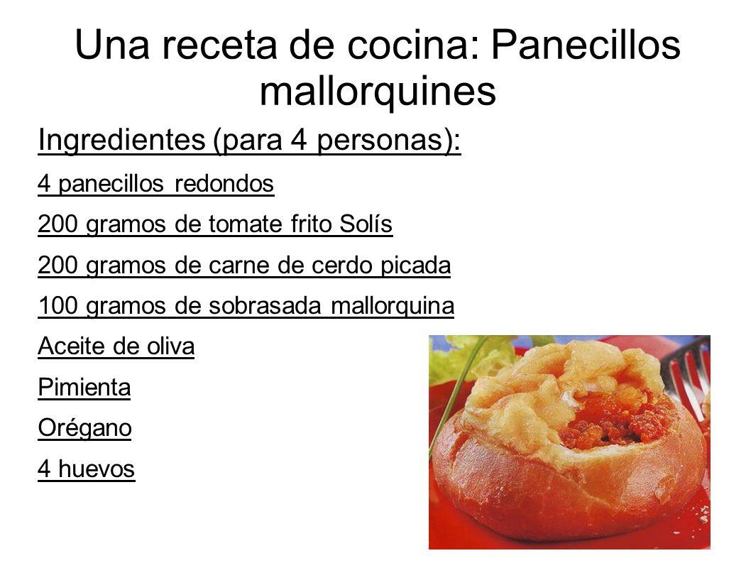 Una receta de cocina: Panecillos mallorquines