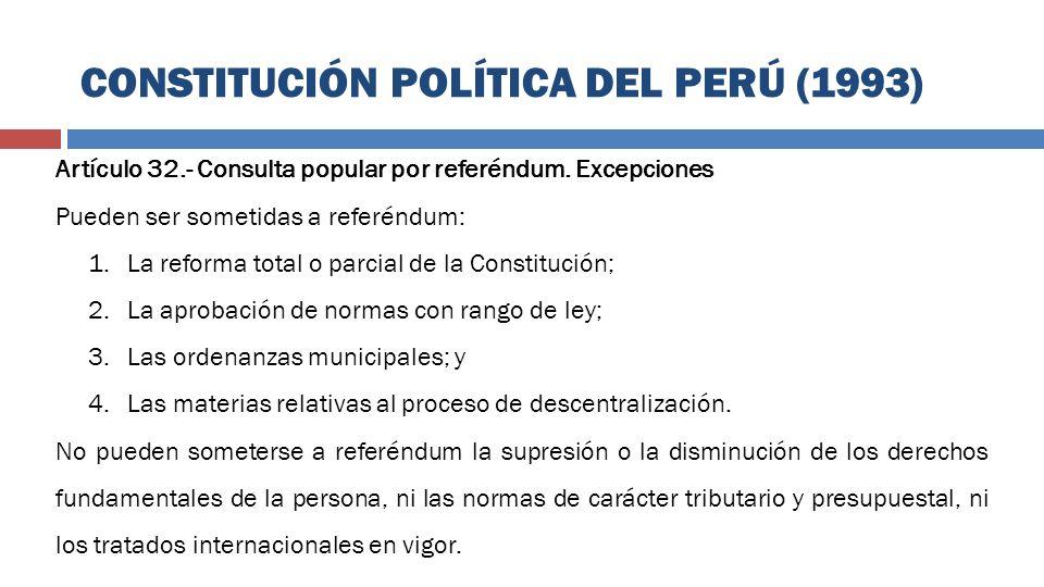 CONSTITUCIÓN POLÍTICA DEL PERÚ (1993)