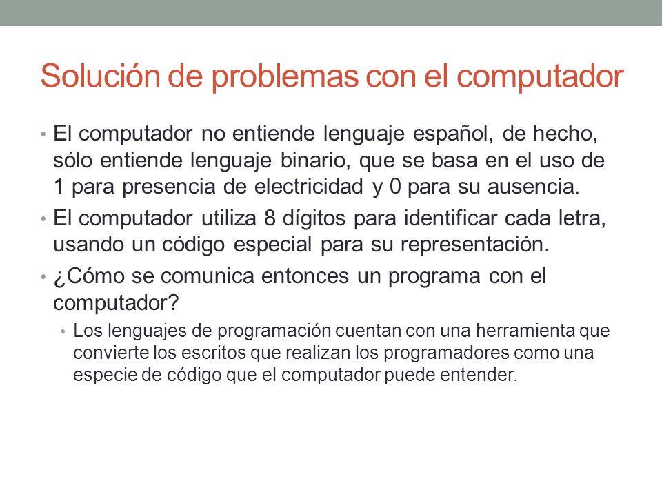 Solución de problemas con el computador