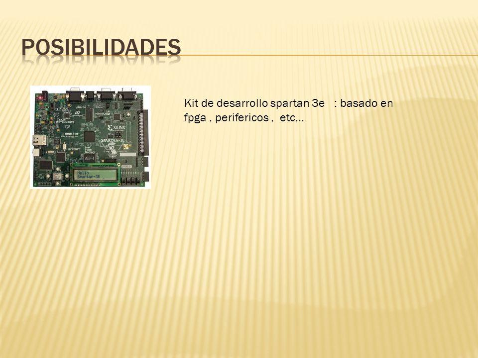 posibilidades Kit de desarrollo spartan 3e : basado en fpga , perifericos , etc,..