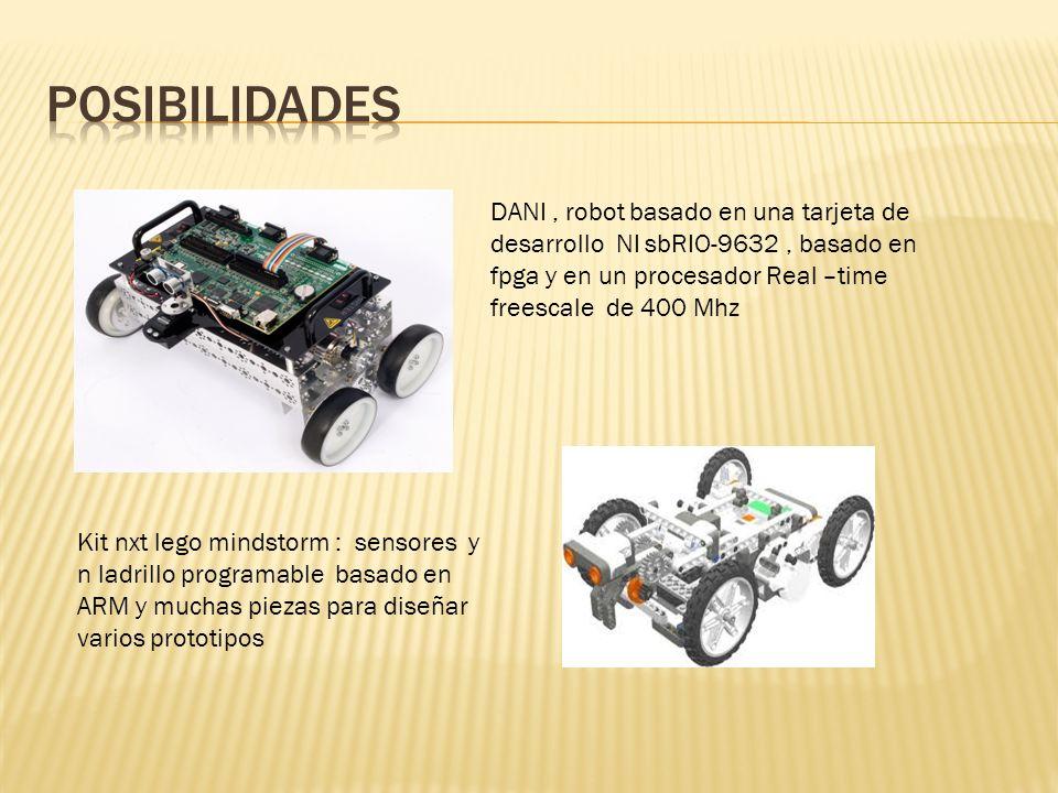 posibilidades DANI , robot basado en una tarjeta de desarrollo NI sbRIO-9632 , basado en fpga y en un procesador Real –time freescale de 400 Mhz.