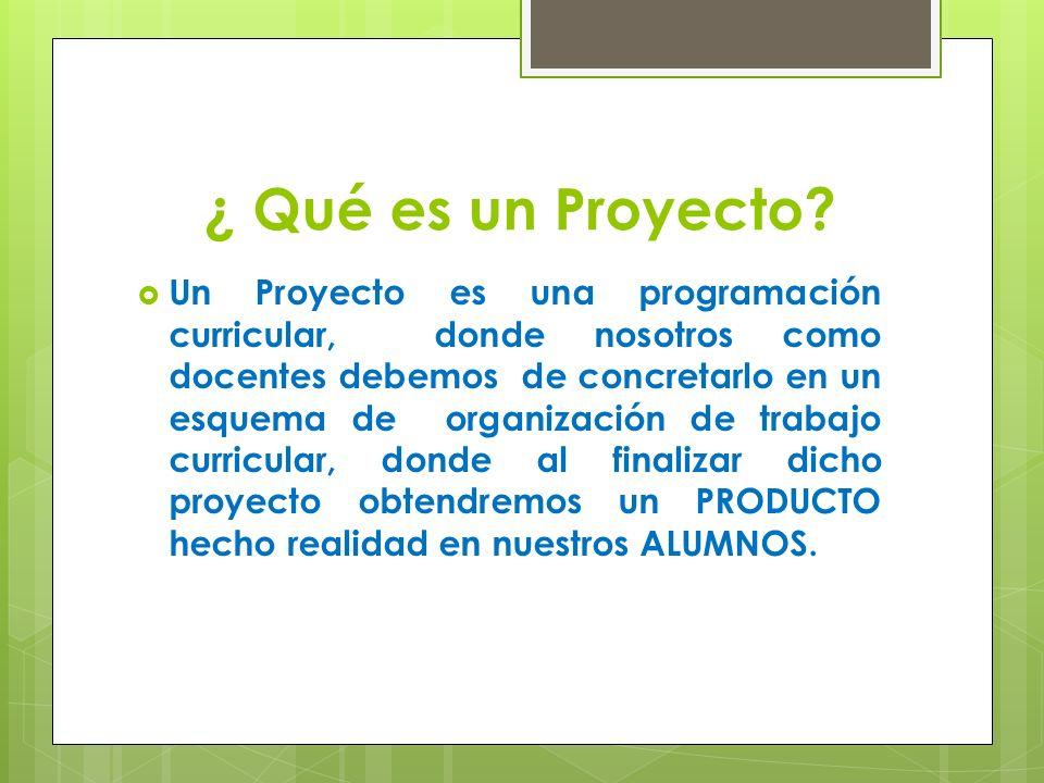 ¿ Qué es un Proyecto