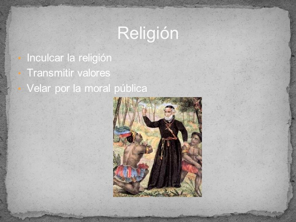 Religión Inculcar la religión Transmitir valores