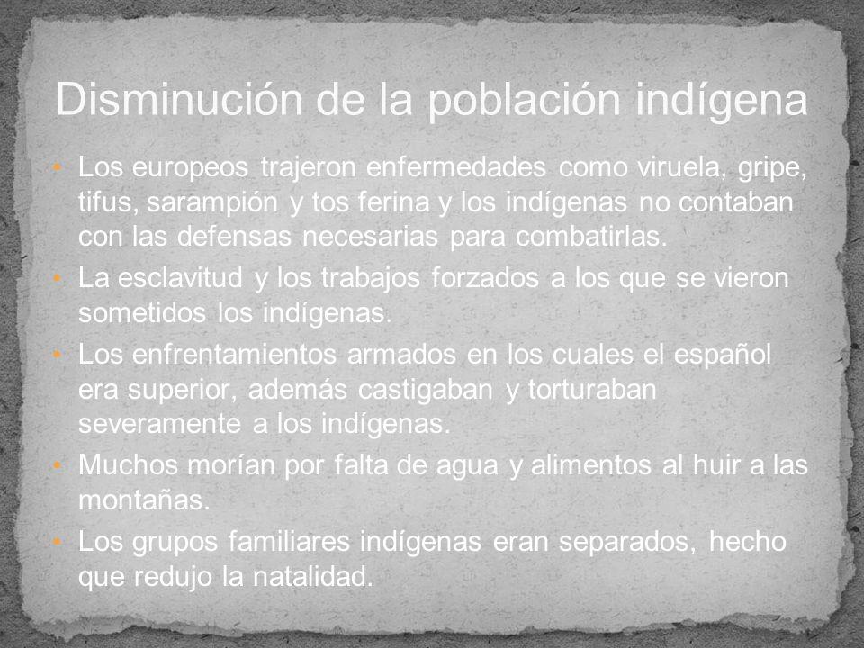 Disminución de la población indígena