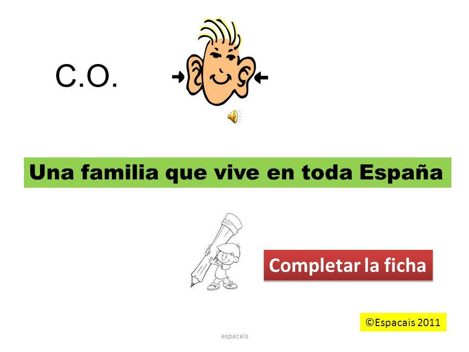 C.O. Una familia que vive en toda España Completar la ficha